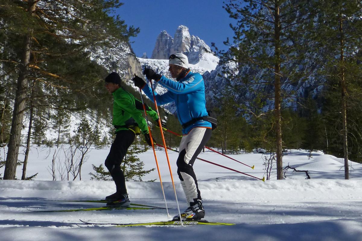 Langlaufsafari Hochpustertal und Osttirol - Drei-Zinnen-Blick