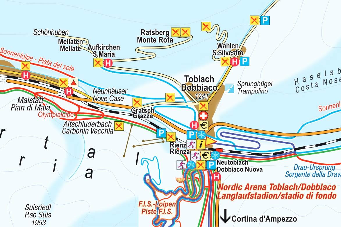 Beispiel eines Loipenplans (Auszug)