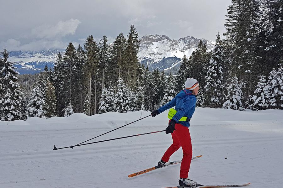 Langlaufsafari Dolomiten - Seiser Alm + Rosengarten