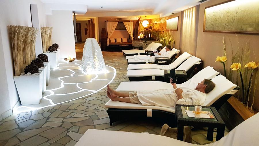 Saunabereich im Hotel Pozza die Fassa